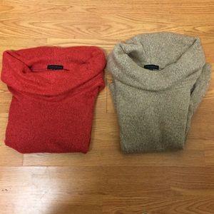 2 sanctuary sweater size large orange beiges